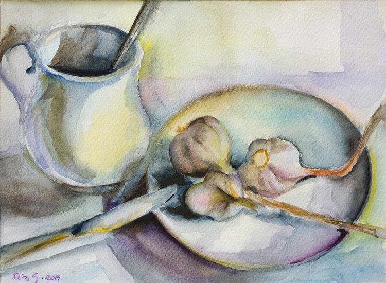 Still life with garlics II. - Image 0
