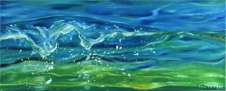 "The Voice of the Sea VI 12x30"" oil on canvas - Image 0"