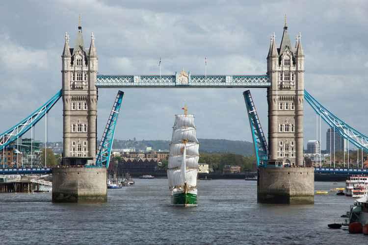 Sailing Through Tower Bridge