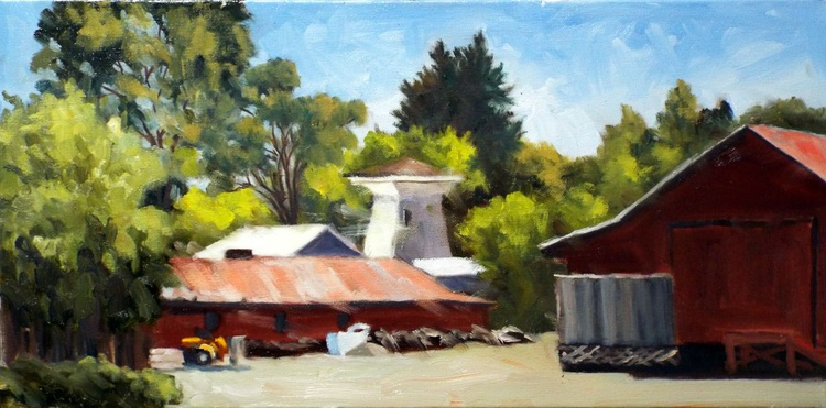 Barns, Water Tower, and Tractor - Image 0