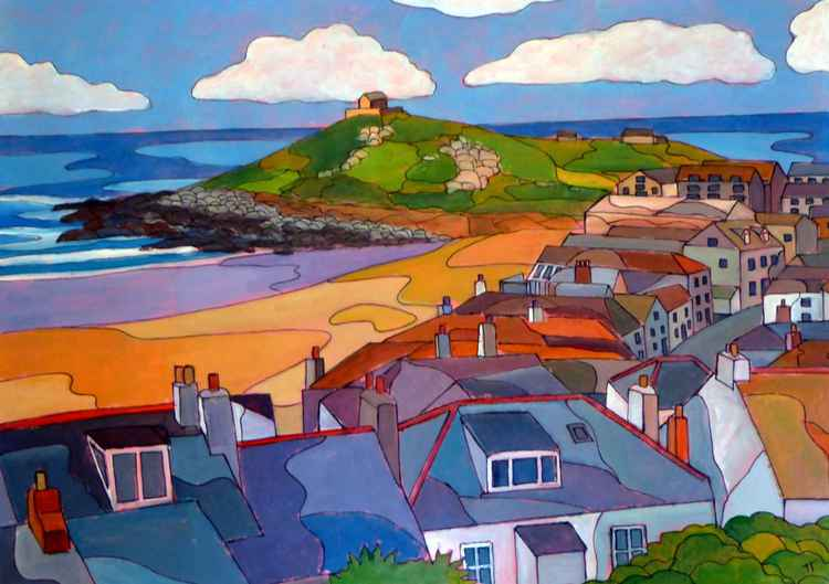 """View towards """"The Island"""" from The Tate Gallery, St Ives. -"""