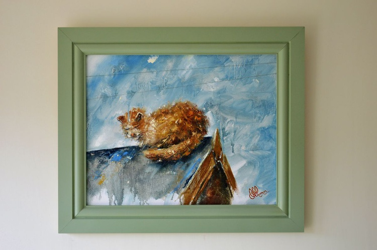 The Alley Cat (in hand-made frame) - Image 0