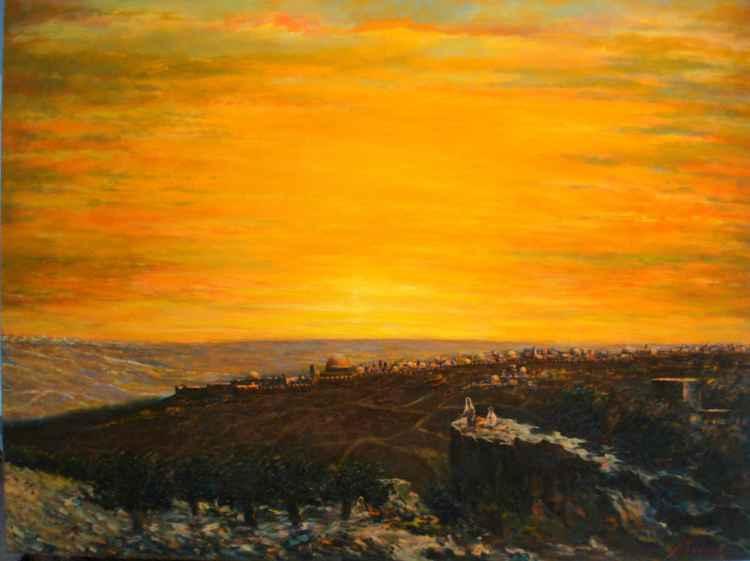 sunset over Jerusalem -