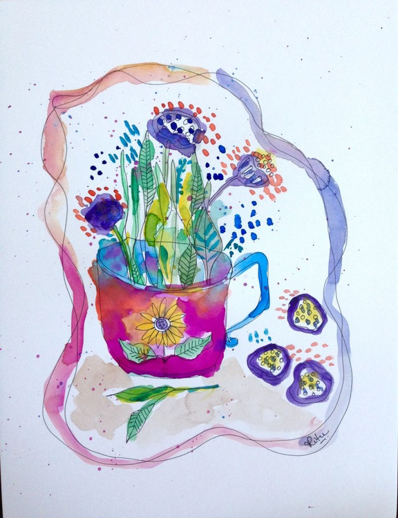 Cup of wildflower - Image 0