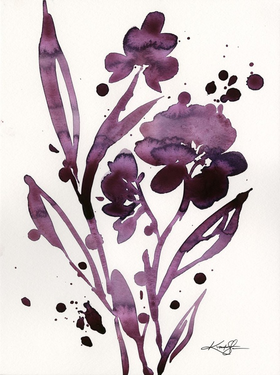 Organic Impressions No. 113 - Flower Watercolor Painting - Image 0