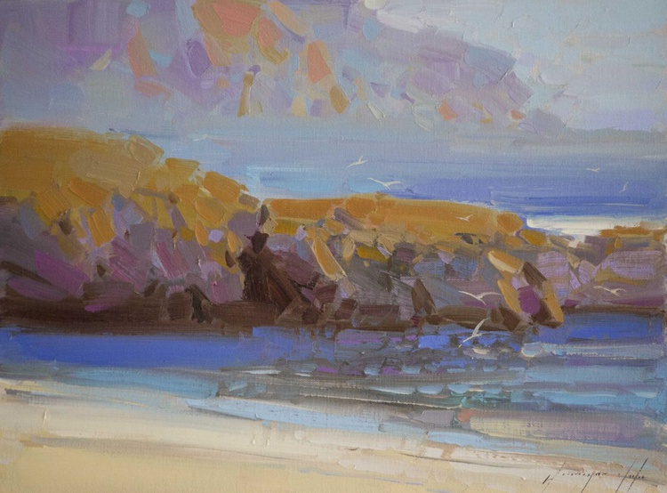 West Coast Hihgway  Plain air Handmade Original oil painting on Canvas One of a kind - Image 0