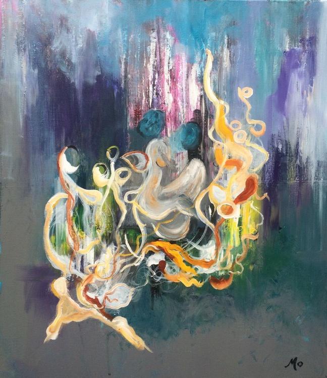 """Secret Desires"" Acrylic painting 60x70cm - Image 0"