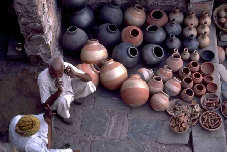 Pot Seller, Jaipur, Rajastan, India -