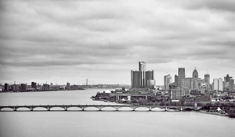 Detroit River at 1,000 Feet -