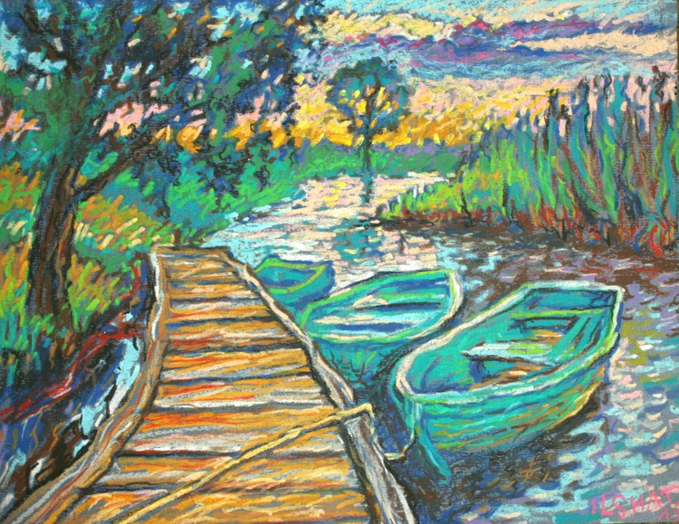 Boats on a river. - Image 0