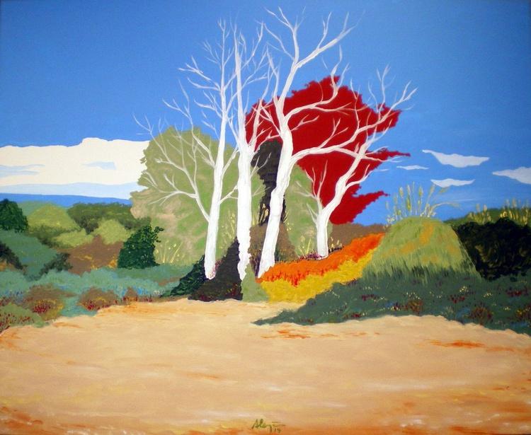 Four White Trees - Image 0