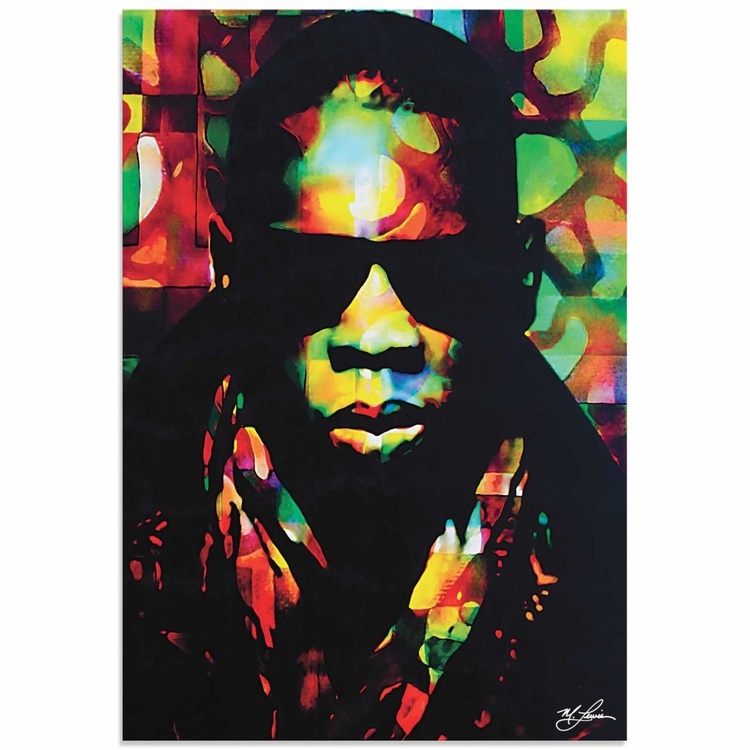 Mark Lewis 'Jay Z Color of a CEO' Limited Edition Pop Art Print on Metal - Image 0