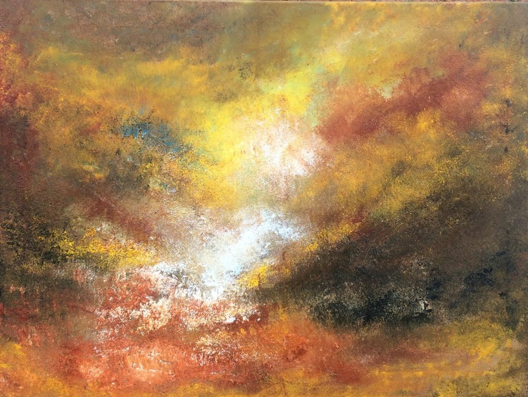 Landscape Art,  Abstract Acrylic Painting - 24x32 inches - Image 0