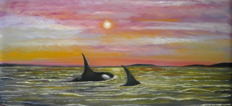The Orcas [framed] - Image 0