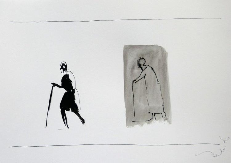 Elderly passers-by 5, 21x29 cm - Image 0