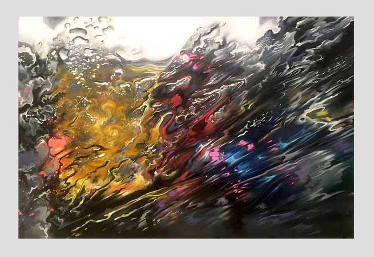 'Hyperspeed' - original painting on canvas -