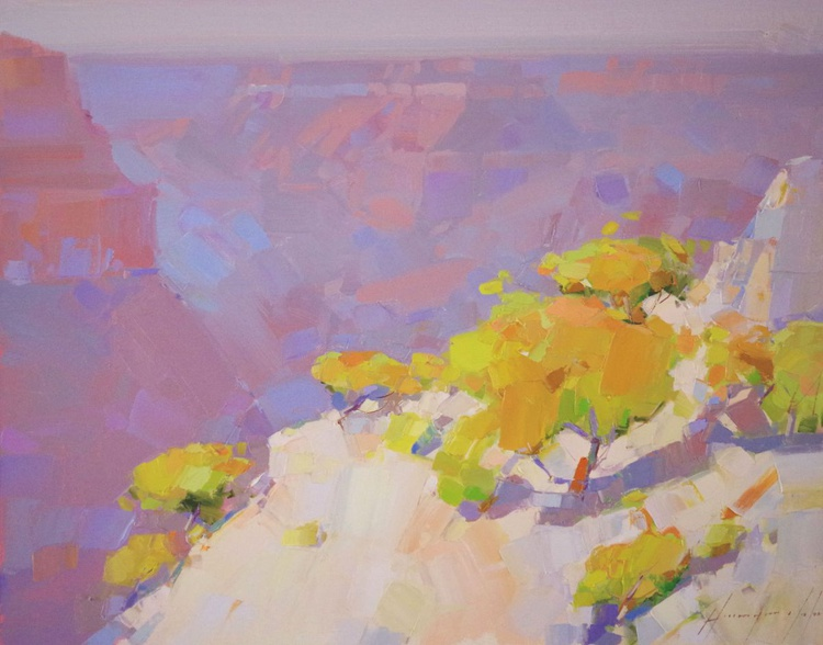Grand Canyon Autumn Palette National Park Landscape oil painting One of a kind Signed - Image 0