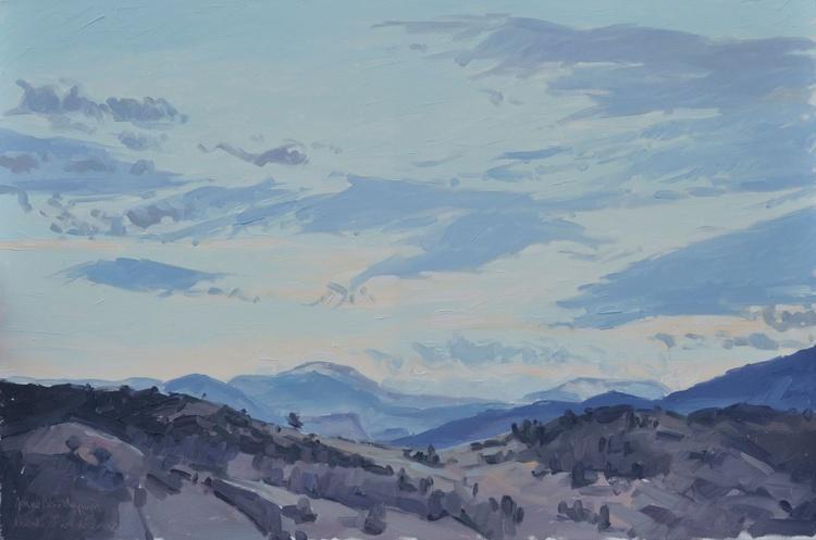 December 31, les Roches de Mariol, clouds at dusk - Image 0