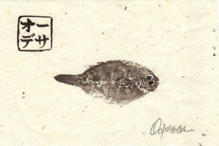 Tiny Flounder Gyotaku (Fish Rubbing) #2 - Image 0