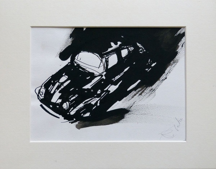 Volkswagen Beetle, framed and ready to hang 21x27 cm - Image 0