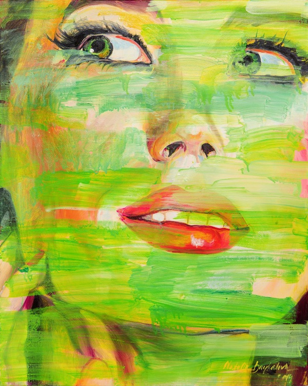 """""""Behind green"""", series """"FACES"""" - Image 0"""