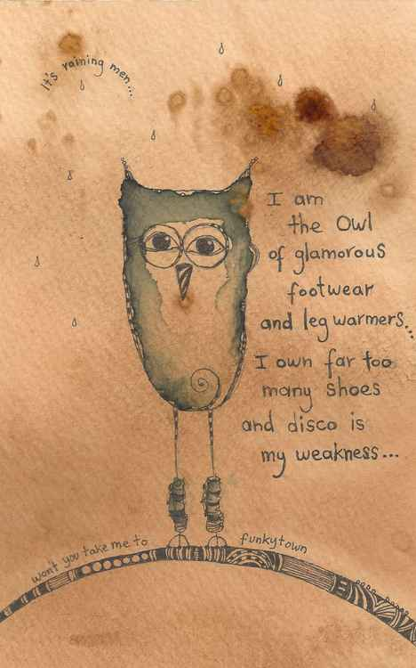 The Owl Of Glamorous Footwear And Leg Warmers -
