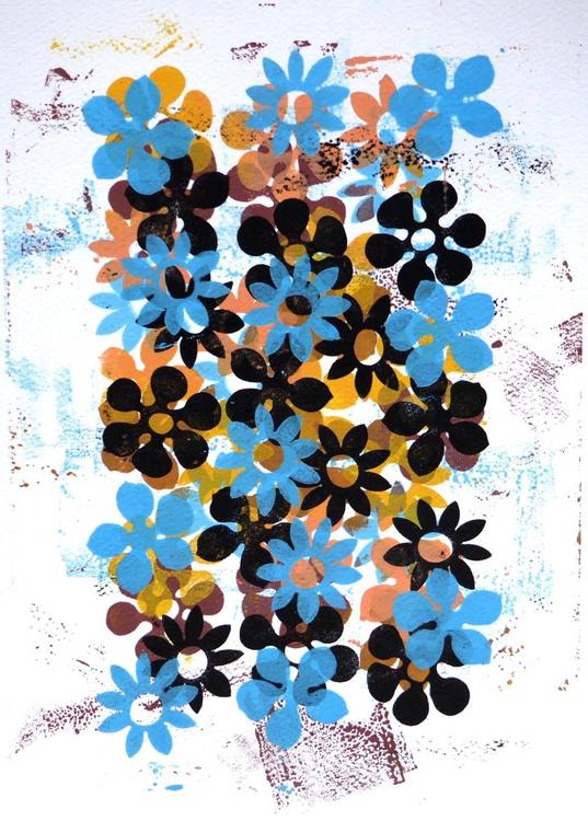 Blue floral - 1 - Image 0