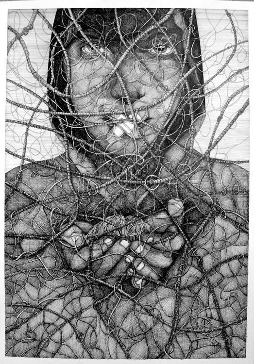 Captive mind - A1 ( 33'' x 24'' ) - Image 0
