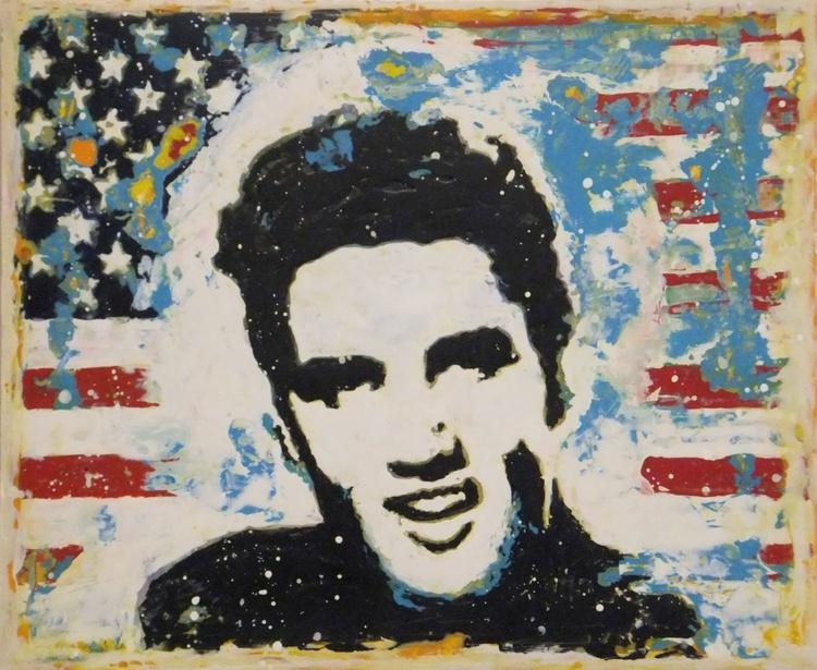 Elvis,gift idea,music,rock and roll,decorative art,home decor - Image 0