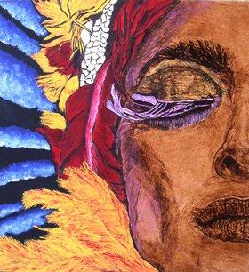 Spiritual Healing by Millis Pyrography