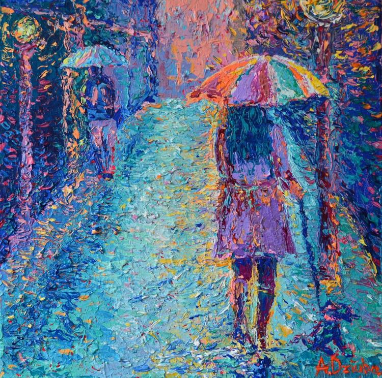Girl with Rainbow Umbrella - Image 0