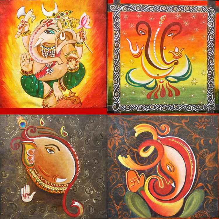 Shri Ganpati- Original Painting -