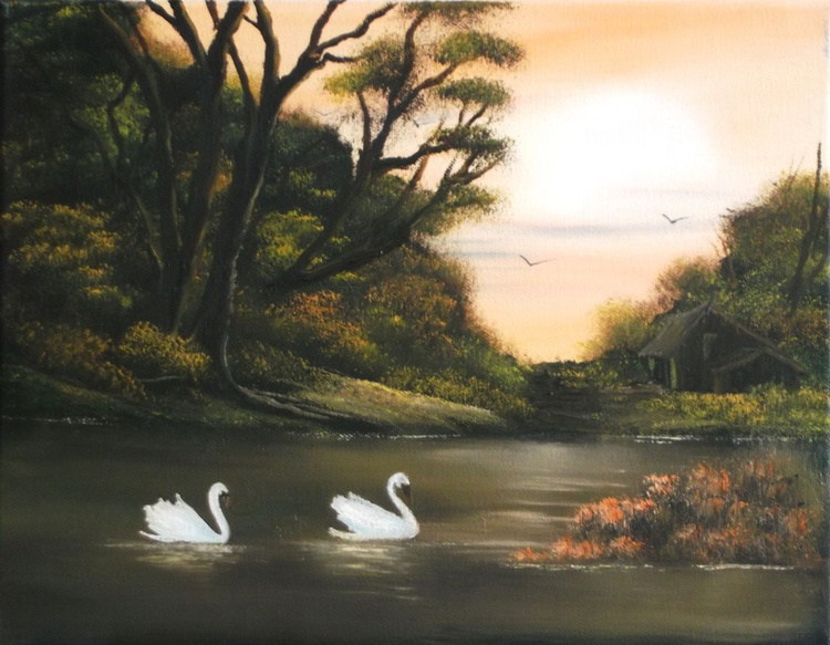 Swans on the River 3. - Image 0