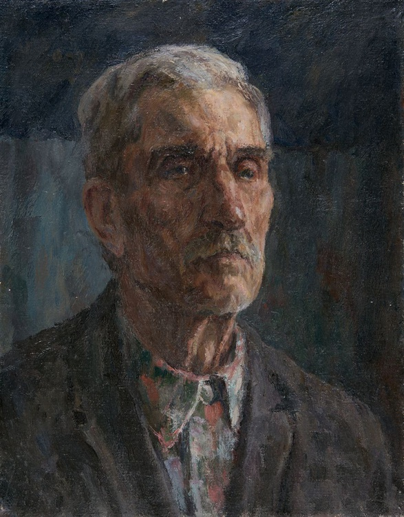 Portrait of a Gray Haired Man - Image 0