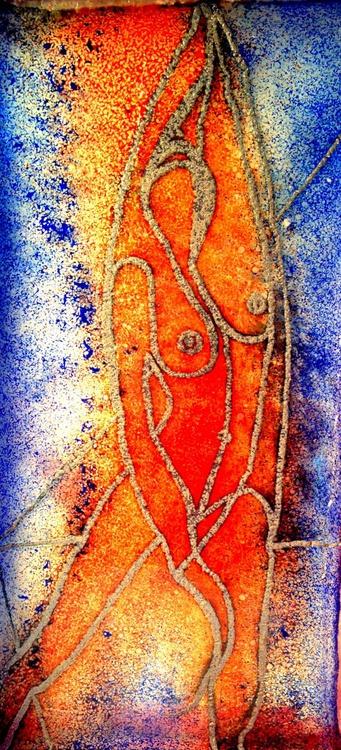 Bronze cast glass - 'Hearth god 4' - Image 0