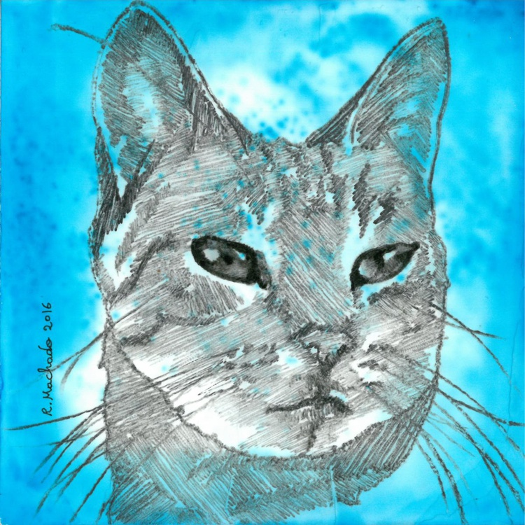 Abstract blue cat I - Image 0