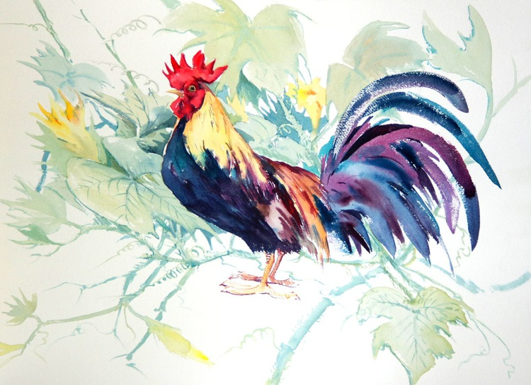 Rooster and Pumpkin - Image 0