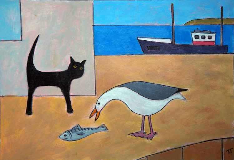 Cat and Gull -