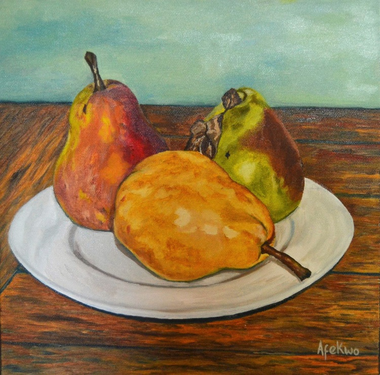 Three Pears, three hues - Image 0