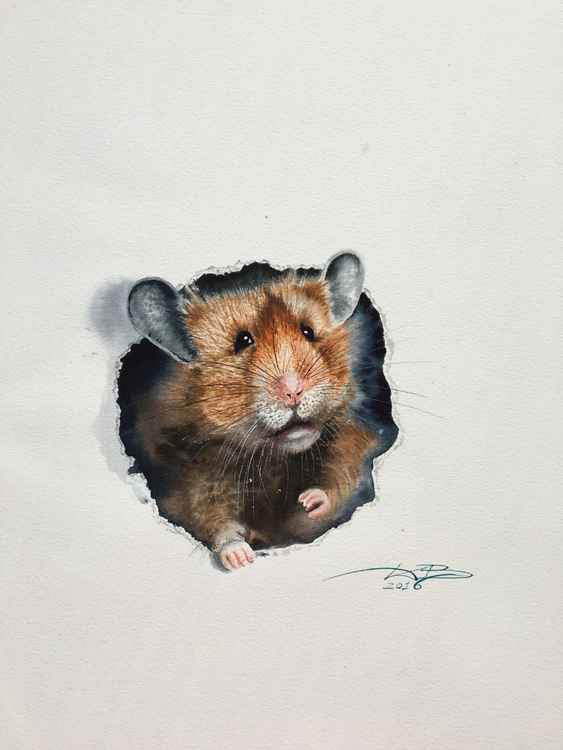 Hamster/original watercolor