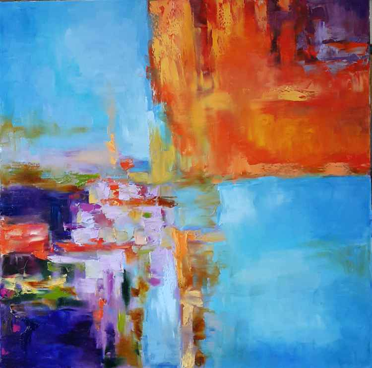 painting *extravaganza of colors*Oil on canvas 80х80 cm