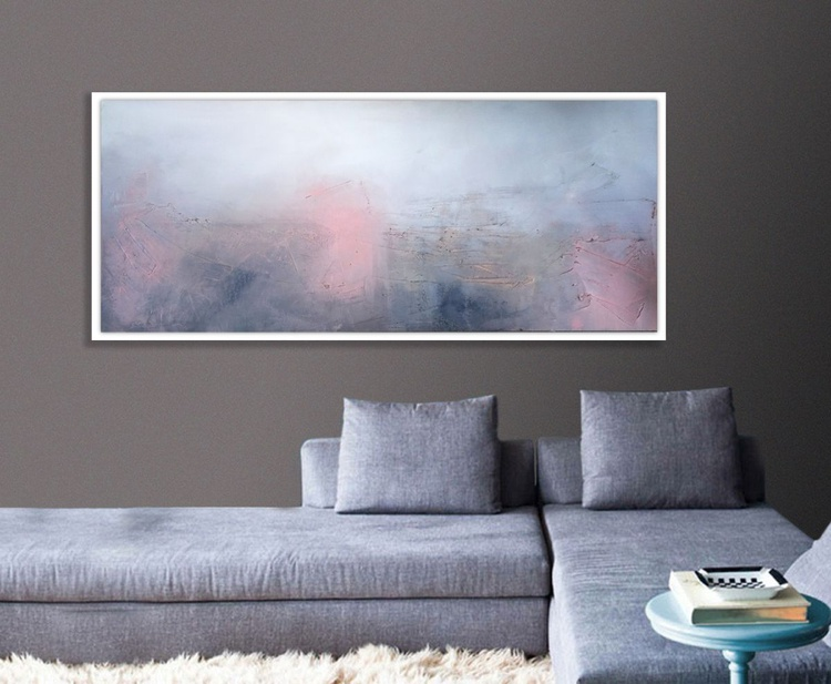 On hold for Dione. Landscape Textured abstract painting - Image 0