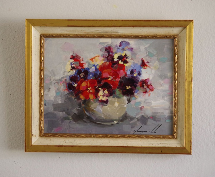Flowers  Original oil painting  Handmade artwork Framed Ready to Hang One of a kind - Image 0