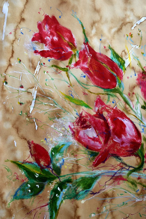 Passion of Red Roses / 53 cm x 74 cm - Image 0