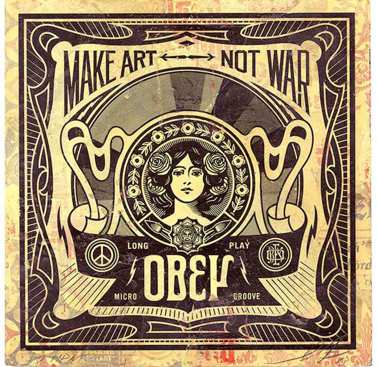 'Make Art Not War'