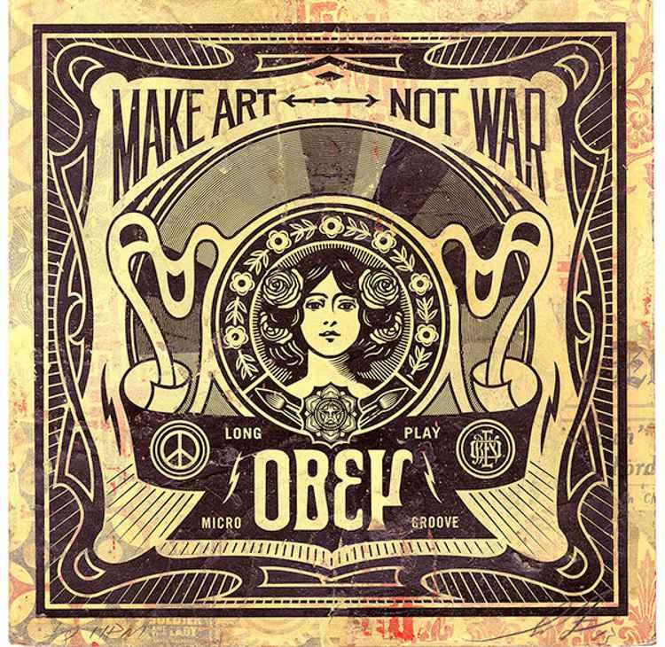 'Make Art Not War' -