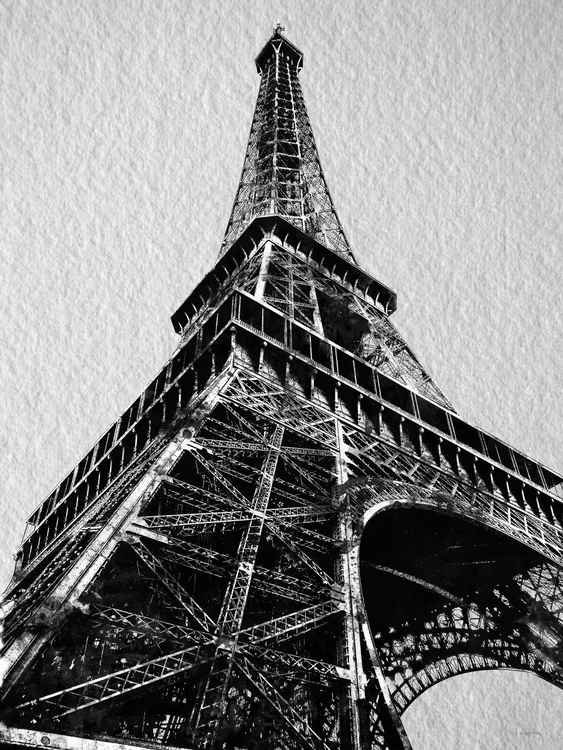 Eiffel Tower BW -
