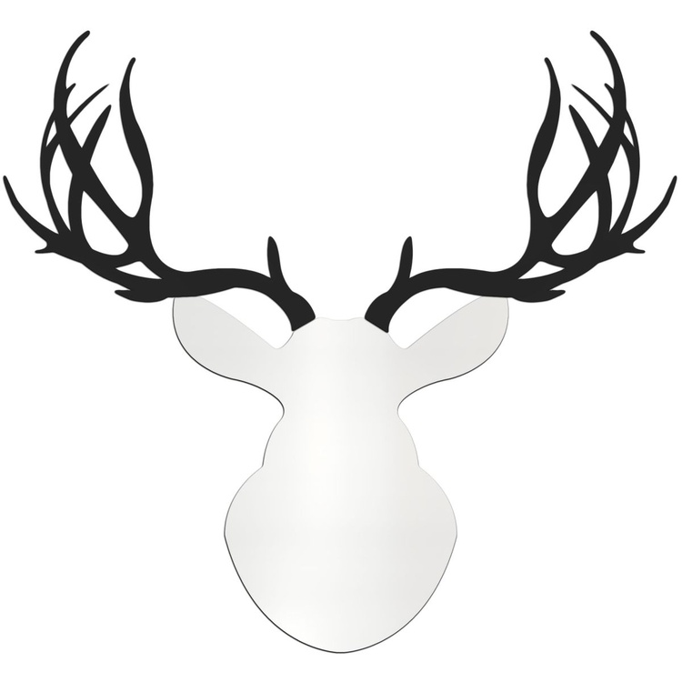 Contemporary Buck | Large White & Black Deer Cut-Out - Image 0