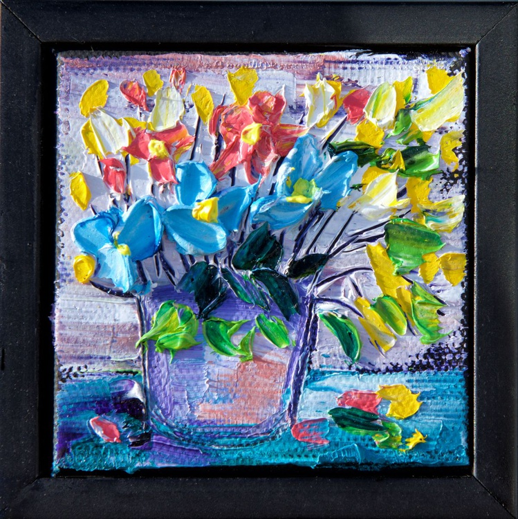 Mini Floral (palette knife) - Image 0