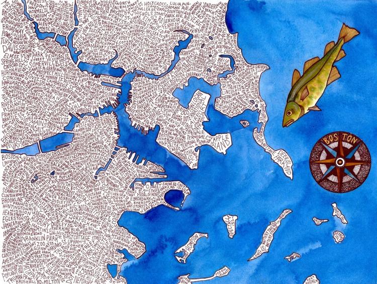 Boston Word Map - Image 0